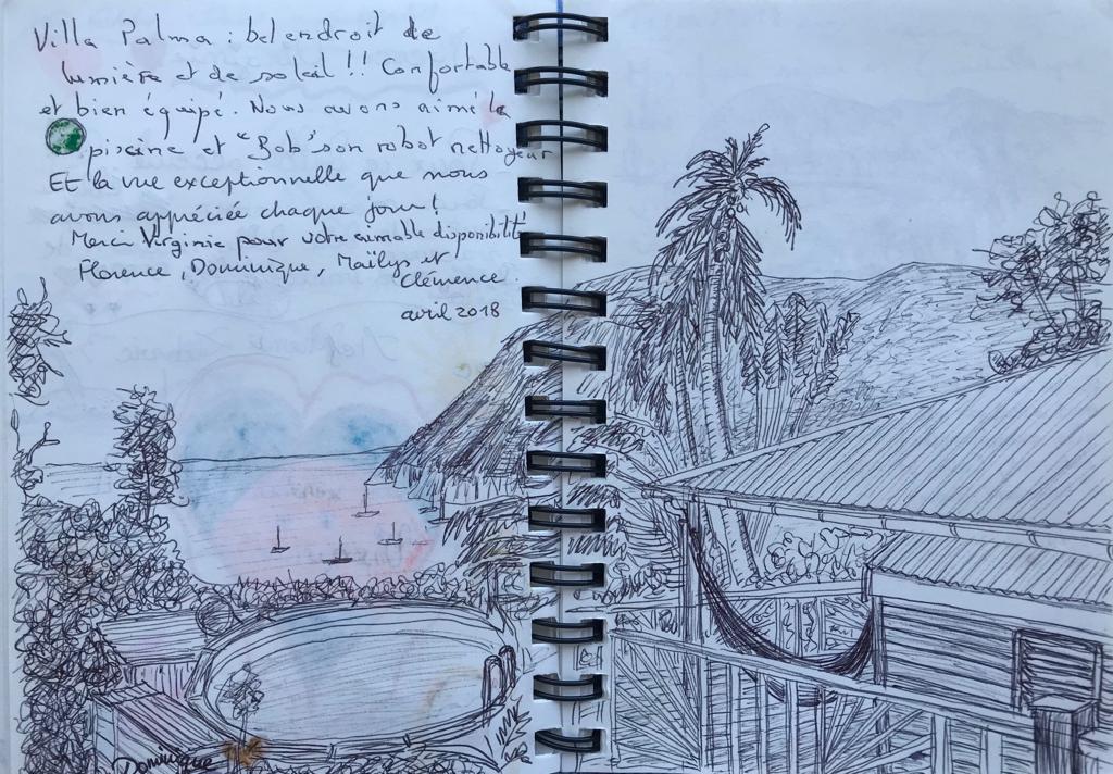 LIVRE D'OR - Villa Palma Deshaies Piscine privée vue mer location gite locations vacances en Gaudeloupe